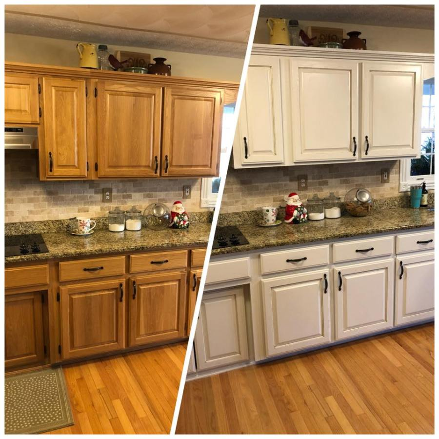 Kitchen Cabinet Makeover Ideas Paint: Oak Kitchen Makeover